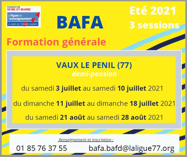BAFA été 2021